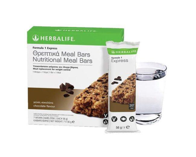 Θρεπτικά F1 Meal Bars Herbalife Γεύση Σοκολάτα