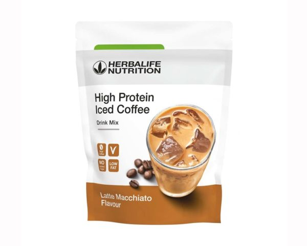 High Protein Iced Coffee Γεύση Latte